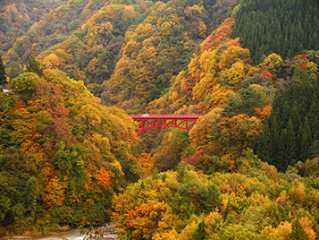 松川渓谷 高井橋