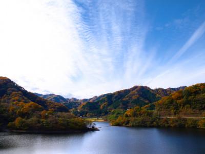 奥野ダムと松川湖