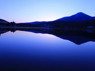 早朝の白樺湖