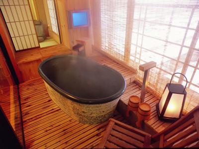 露天風呂付客室(一例)