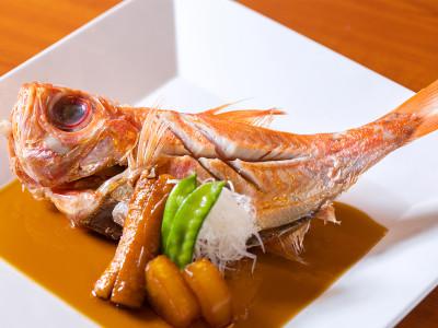 別注料理(金目鯛の煮付け)