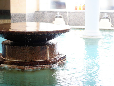 クリスタル風呂 湯口