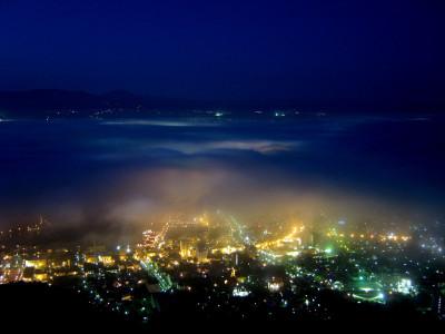 函館山夜景 雲海