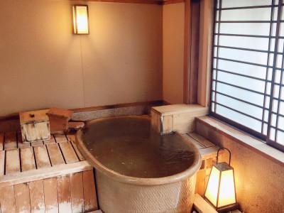 貸切風呂 陶器風呂