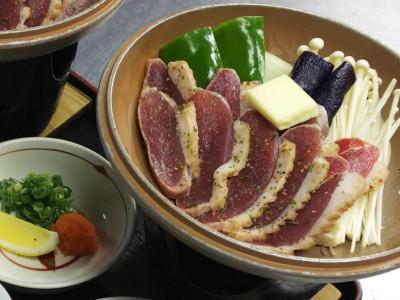 別注料理 鴨肉の陶板焼き