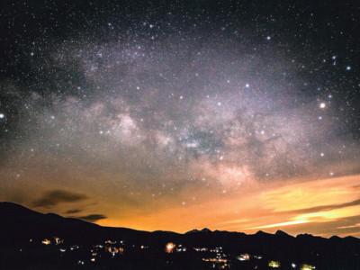 車山高原から眺める星空