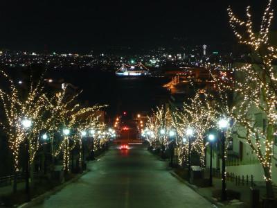 八幡坂 冬・電飾
